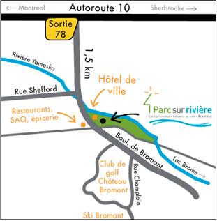 carte localisation geographique Parc sur rivière