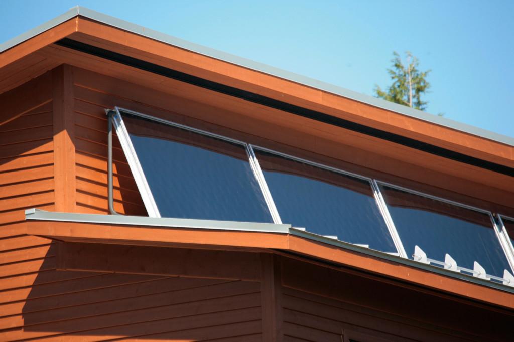Capteurs solaires, maisons de ville Parc sur